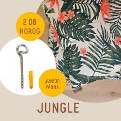 Jungle junior hinta párna + 2 darab horog